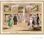George_Cruikshank, Comparing notes... or... Venus dei Medici... amongst others, 1821, aguatinta coloreada